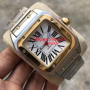 2019 aço inoxidável Relógios 100XL relógio de ouro 2813 Automatic Movimento mecânico ouro Rose prata caso dos homens de ouro de pulso esportes