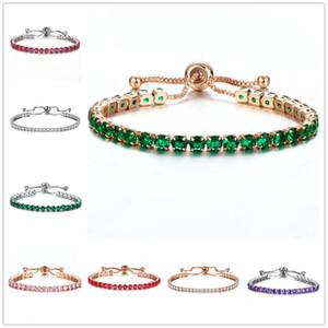 Fashioh элегантный Кристалл цепи ссылка браслет Браслет кубический Циркон Strand браслеты для женщин pulseiras bijoux
