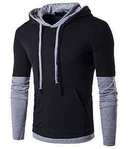 Толстовка мужская повседневная с длинным / коротким рукавом Slim-Fit толстовка рубашка куртка пальто флис спортивная одежда кофты дизайнер спортивный костюм мужская молния