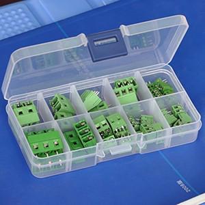 Kit d'assemblage de borniers à vis universels pour cartes de circuits imprimés.