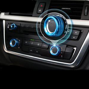 Para BMW X1 F48 X5 X6 E70 E71 F15 F16 F30 F10 F32 F34 F01 F45 F20 F07 Car Styling Aire acondicionado Mandos de audio del círculo de ajuste Accesorios para automóviles
