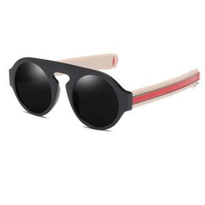 Sarı Yuvarlak kadın güneş gözlüğü 2018 Retro bağbozumu Temizle tonları söylenen lasses bayanlar gözlük erkekleri steampunk