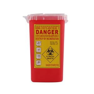 Professionelle Kunststoff Sharps Container für Tätowierer Neueste Tattoo Sharps Container Biohazard Nadelentsorgung KOSTENLOS