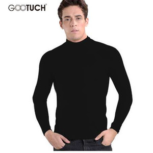 Mens Cotton Winter Thermal Underwear Long Johns Turtleneck Tops High Collar Plus Size Long Johns Long Sleeve Undershirt 2455