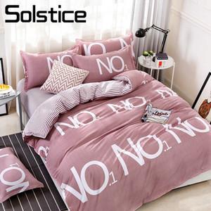 Solstice Home Textile Auburn Funda nórdica Stripe Sheet Funda de almohada Mujer Ropa de cama para adultos 3-4 piezas Twin Full Queen Ropa de cama de matrimonio
