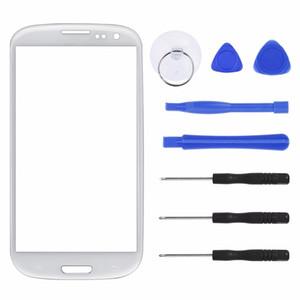 Con las herramientas de los kits frontal de la pantalla táctil exterior Cristal de la lente para Samsung Galaxy S3 i9300 i9305 pantalla táctil del reemplazo