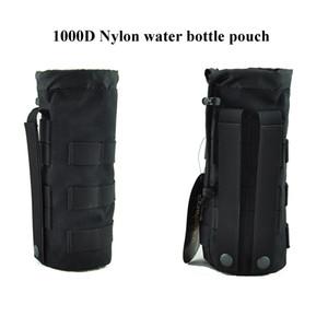 """Sacca per acqua con coulisse tattica Sacca per acqua Molle Carrier per bottiglia da 32oz 9.4 """"x3.7"""" con tessuto impermeabile in nylon 1000D"""