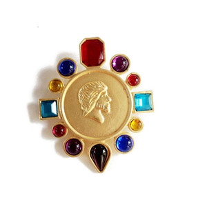 Free Shipping Geometric Alloy Mixed Color Brooch, Bohemia Styles Wholesale Fashion Popular Sweety Gift Brooch Jewelry