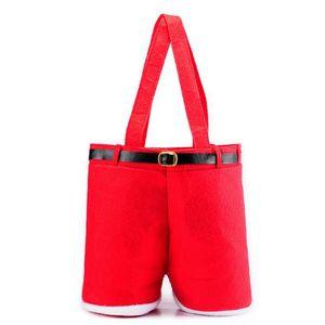 New Christmas Candy Wine Bottle Bag Christmas Santa Pants Gift Bag Wedding Candy Sack Xmas Decor Christmas Gift Bags