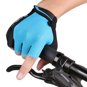 ركوب الدراجات السلامة نصف اصبع قفازات الرياضة في الهواء الطلق ركوب تسلق الجبال تنفس قفاز دراجة نارية مكافحة صدمة قفازات شحن مجاني