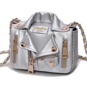 New Mulheres Roupa Ombro Rivet Jacket Bolsas europeias Cadeia Motos Bags Messenger Bag Mulheres de couro Bolsas
