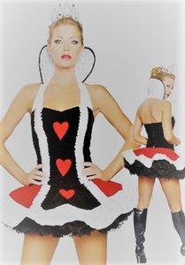 Cosplay de personnage de robe Will coeur dans la nouvelle balle rouge danse un costume Sorcière Devil Vampire Costume Queen HTFPQ