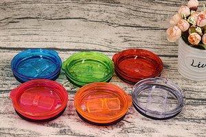 20 onças Tumbler tampas tampa da caneca Tampas À Prova de Derramamento Tampas Resistentes Ao Rolo Cobre 6 cores Food grade AS plastic push