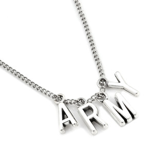 BTS Kpop ARMY pendentif Collier Femmes Hommes Bijoux Collier Corée Mode BTS Album Love Yourself Accessoires