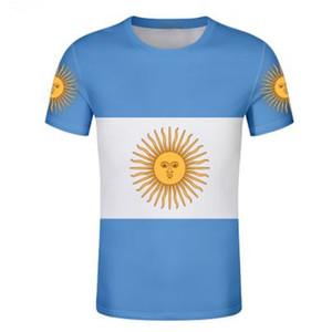 argentina ar t camisa livre nome personalizado número ARG country academias t-shirt bandeira espanhol argentina nação imprimir texto diy foto roupas