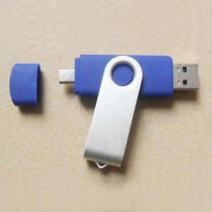 10 Pièce 8Go 16Go Métal OTG Whirl Capacité Assez U Disque USB2.0 Téléphone portable U Disque Rotatif En Métal Téléphone Portable USB Clés USB V8