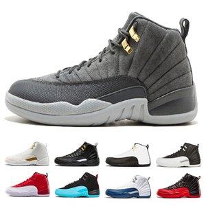 Mens 12 12s Dunkelgrau Bulls Gym rot Basketball Schuhe Männer Wolf Grey Taxi College Navy der Meister University Blue Sports Sneakers