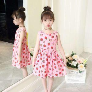 Children's wear dress 2018 new spring and summer girl floral princess dress summer Korean version of the big child vest skirt