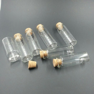 Esvazie frascos de cosméticos pequenos recipientes de vidro artesanato com rolhas Mini Perfumes frascos 50pcs 22 * 60 * 12,5 milímetros 14ml