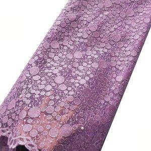 5 Yards nigeriano nupcial Rosa Roxo Lace Tecido Light Gray Últimas Africano Laces 2018 Bordados Francês Dubai Lace Tecidos 1 ordem