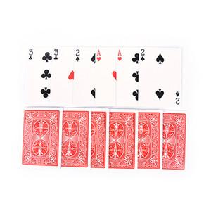 2 Set Magic 3 Three Card Card Easy Classic Magic Carte da gioco Family Funny Game