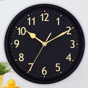 Horloge murale de salon rond Horloge créative numérique Accueil Silent