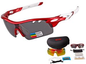 Новый дизайн XQ-182 поляризованные спортивные солнцезащитные очки Солнцезащитные очки с 3 сменные линзы для мужчин женщин Бейсбол Велоспорт Runing