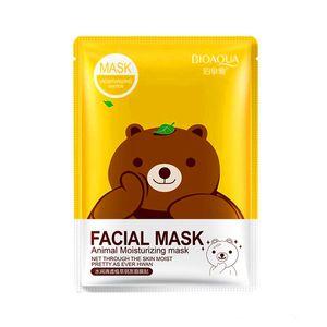 Gratis 2019 Epacket BIOAQUA 12 tipos Exprimir Máscara de hoja Hidratante Cara Tratamiento de la piel Control de aceite Máscara facial Peelings Cuidado de la piel Pilato