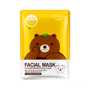 Grátis 2019 Epacket BIOAQUA 12 tipos Squeeze Máscara Folha Hidratante Rosto Pele Tratamento de óleo de controle de Máscara Facial Skin Care Peels Pilatos