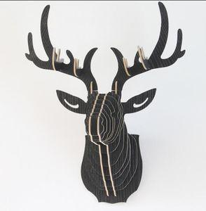 3D Wooden DIY Animal Deer Head Art Model Home Office Wall Hanging Decoration Storage Holders Racks Gift Craft Home Decor