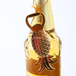 L'apertura della bottiglia di birra dell'ananas lega dorata gli omaggi di cerimonia nuziale creativi piccolo regalo per la decorazione della Tabella dell'ospite all'ingrosso