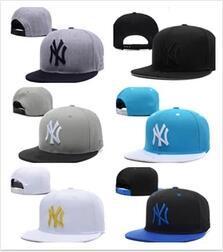 2018 Fashion NY Snapback Gorras de béisbol Muchos colores Peaked Cap Nuevo hueso Snapbacks ajustables Sombreros deportivos para hombres Envío de gota gratis Mezclar orden