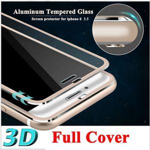 Полное покрытие 3D закаленное стекло для Iphone 6 Plus 6S Plus 7 8 Защитная пленка для экрана Изогнутые Круглый край Розовое золото Серебро Черный цвет