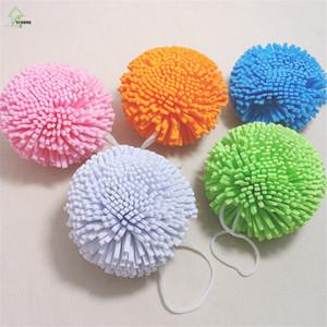 YI HONG Candy Farbe Natural Bath Ball Weichen Bequemen Badeschwamm Einfache Reinigung Blume Mikrofaser Mesh Bad-set A1252c