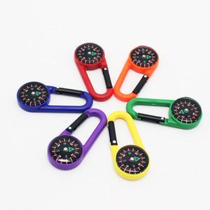 Mini Liquid Compass Facile da trasportare Pocket Pocket Plastic Plastic Buckle Multi Colors Bag Moschettone Vendita diretta in fabbrica 1hr ii