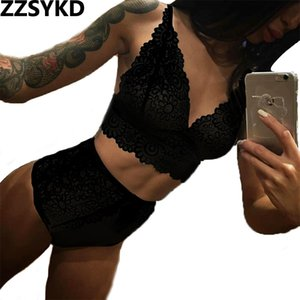 ZZSYKD Lingerie di pizzo Imposta costumi sexy Plus Size Babydolls Sexy per le donne Lingerie Sexy Hot Mujer Chemises Trasparente Sesso Bdsm