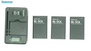 بطارية الهاتف BL-5CA BL-5C + شاحن LCD لشاشة Nokia 1000/1010/1100/1108/1110/1111/1112/1116/1200/1208/1209/1255/1280