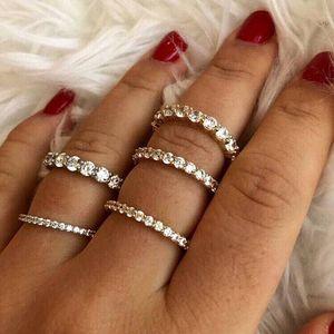 2019 prata cz anel de eternidade pavimentar 2mm cubic zirconia banda de noivado 100% 925 sterling silver classic charme prata cz anéis