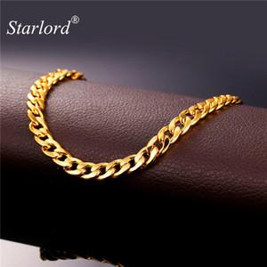Gioielli cavigliere Starlord caviglia del piede del braccialetto per le donne di colore dell'oro cubana Catena cavigliera braccialetto su una gamba sandali a piedi nudi A755