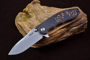 Tolerancia Cero ZT 0562 ZT0562 G10 TC4 de titanio cuchillo plegable del cuchillo de caza que acampa Cuchillo del regalo para el hombre 1pcs Adco