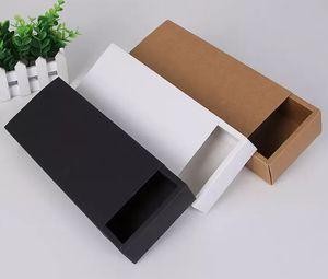 Respectueux de Kraft Papier Carton tiroirs Boîte Chaussettes Sous-vêtements cadeaux Boîtes d'emballage 22.5 * 9.5 * Offre 4.5cm
