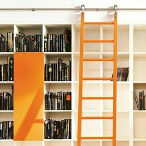 (الولايات المتحدة الأمريكية شحن مجاني) و 6ft-16FT الفولاذ المقاوم للصدأ انزلاق غرفة المعيشة الحديثة زارة الداخلية مطبخ مكتبة المتداول سلم الأجهزة المسار كيت (لا لا