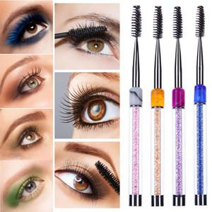 Acrílico Rhinestone Micro Eyelash Brush Mascara Reutilizable Ceja Pinceles Ojos Maquillaje Extensión de pestañas Mascara Eye Lashes Brush