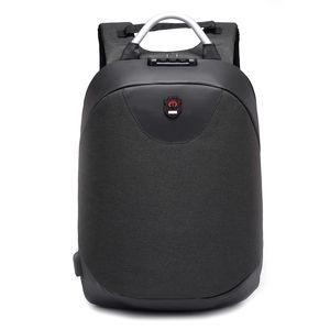 2018 nova moda 15,6 polegadas homens Laptop mochila impermeável Casual Backpack Business Travel USB Voltar pacote Masculino Bag Anti-roubo presente
