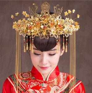 Hochwertige Kostüm der Braut Kopfschmuck Retro chinesischen Haar Coronet