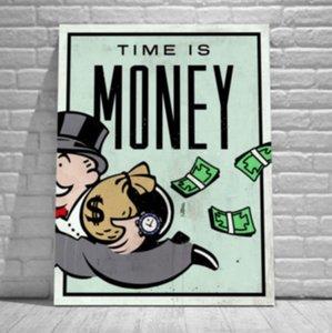 Качество HD Размеры Art Money, Главная Аннотация Время Pop Art Oil расписанную граффити многоместный декора стены картины на холсте Печать High G77 Jrpw
