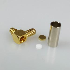 Sağ Açı MMCX Erkek Tak RF Konnektör Altın Kaplama Koaksiyal Kablo RG316 RG174 RG178 için 90 Derece MMCX RF Kablo Adaptörü