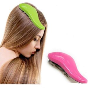 10 Pcs Fashion Shower Salon Styling Tamer Tool Handle Emaranhado Desembaraçador Nó Livre Escova de Cabelo Pente