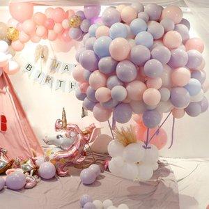 """100 unids Decoración Del Partido Del Bebé 10 """"Dulce Globo Macaron Globos de Látex de Cumpleaños Boda Cumpleaños Globos de Aire Suministros para Eventos de Fiesta"""