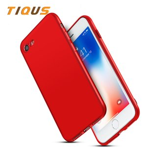Cas Pour iPhone X Cas 10 7 7 Plus Matte Doux Cas de Téléphone Pour iPhone X 6 8 8 Plus Ultra-mince Couverture de Téléphone Arrière Coque